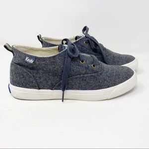 KEDS Kickstart Grey Wool High-Top Sneakers 7